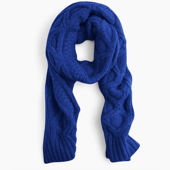 J. Crew Accessories - J.CREW | Loopy Stitch Oversized Cable Knit Scarf